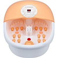 Hangsun Foot Spa Bath Massager with Heat Bubbles Massage and Jets FM660 Electric Feet Salon Tub with Rollers, Medicine…