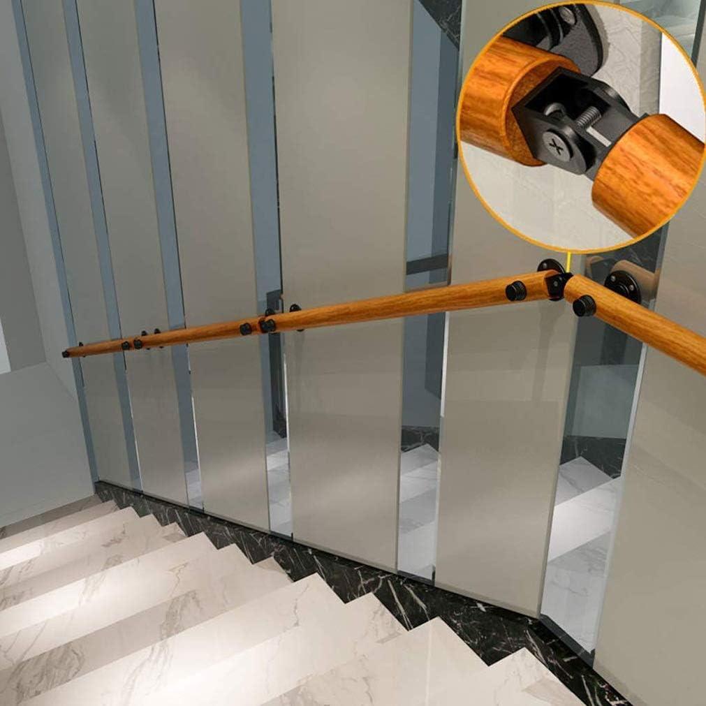 WENYAO Pasamanos de la barandilla de la Escalera Pasamanos de la Escalera, pasamanos de 1 a 20 pies, barandilla Antideslizante de Madera Maciza de la Escalera, altillo Interior del hogar contra la:
