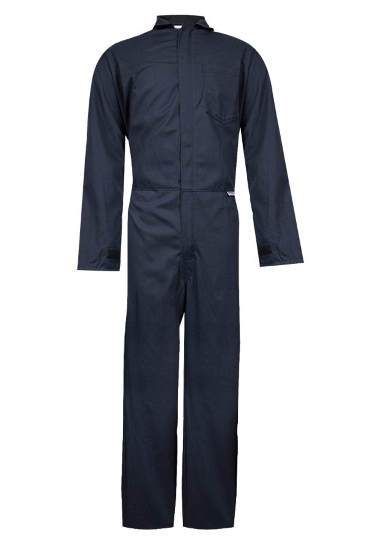 National Safety Apparel C88EJCZMD32 ArcGuard FR UltraSoft Contractor Coverall, Medium, Navy by National Safety Apparel Inc (Image #1)