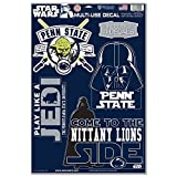 WinCraft Penn State Nittany Lions Official NCAA 11 inch x 17 inch Star Wars Darth Vader Car Window Cling Decal by 156648