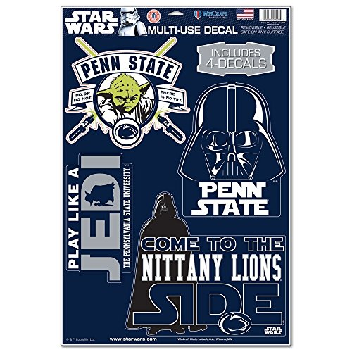 WinCraft Penn State Nittany Lions Official NCAA 11 inch x 17 inch Star Wars Darth Vader Car Window Cling Decal by 156648 by WinCraft