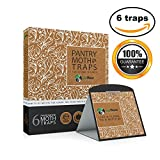 Pantry Moth Traps with Pheromone Attractants & Heavy Duty Glue - Non-toxic & Insecticide Free - 6 Pack - by Eco Home USA (Brown)