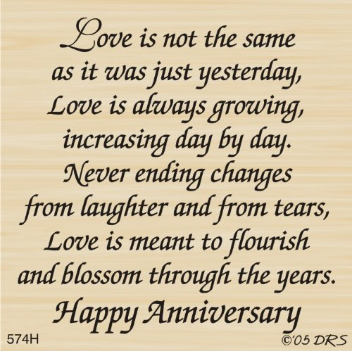 Changing Love Greeting Rubber Stamp By DRS Designs by DRS Designs Rubber Stamps