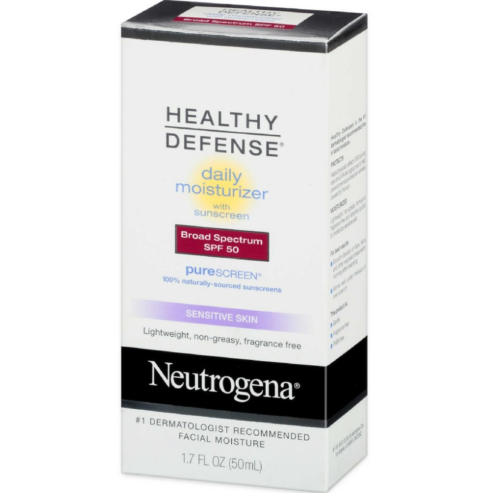 Neutrogena Healthy Defense Daily Moisturizer with PureScreen, SPF 50, 1.7 Ounce (Pack of 2) by Neutrogena