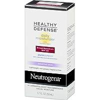 Neutrogena Healthy Defense Daily Moisturizer Sensitive Skin, SPF 50 Lotion 1.70 oz (Pack of 4)
