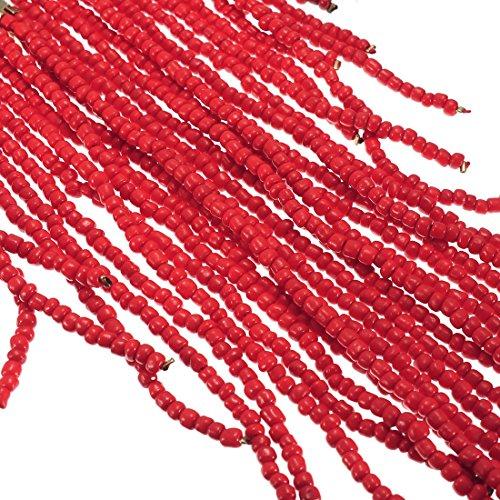 Rosso Bead Collana Multi Fili Lunga Donna Da 4Fqvg