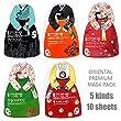 Oriental Korea Premium Essence Facial Sheet Mask, 10 individually packaged mask sheet - 100% cotton Bemlise sheet 5 kinds 10 sheets