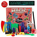 KOBWA Magic Tricks Set with Over 75 Tricks, 17 Exciting Magician Items, Easy Magic Tricks Tools for Kids and Beginners of All Ages, Idea Birthday Gift