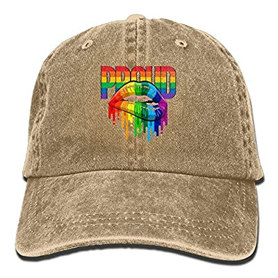 HAIRUIYD Pride Lips Baseball Cap Boys Girls Creative Snapback Hip Hop Flat Hat Adjustable One Size