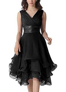 Redpol Women Elegant V-Neck Medium Sleeve Patchwork Long Bridesmaid Dresses Dresses