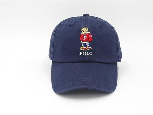 POLO BEAR Unisex Cotton Hats Adjustable Peaked Cap Blue One Size ...