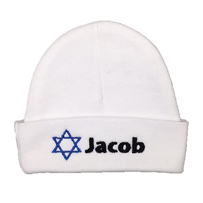 8b3a33bd7 Amazon.com: Personalized Baby Hat with Embroidered Star of David for ...