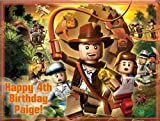 "Single Source Party Supply - Indiana Jones Edible Icing Image #3-8.0"" x 10.5"""
