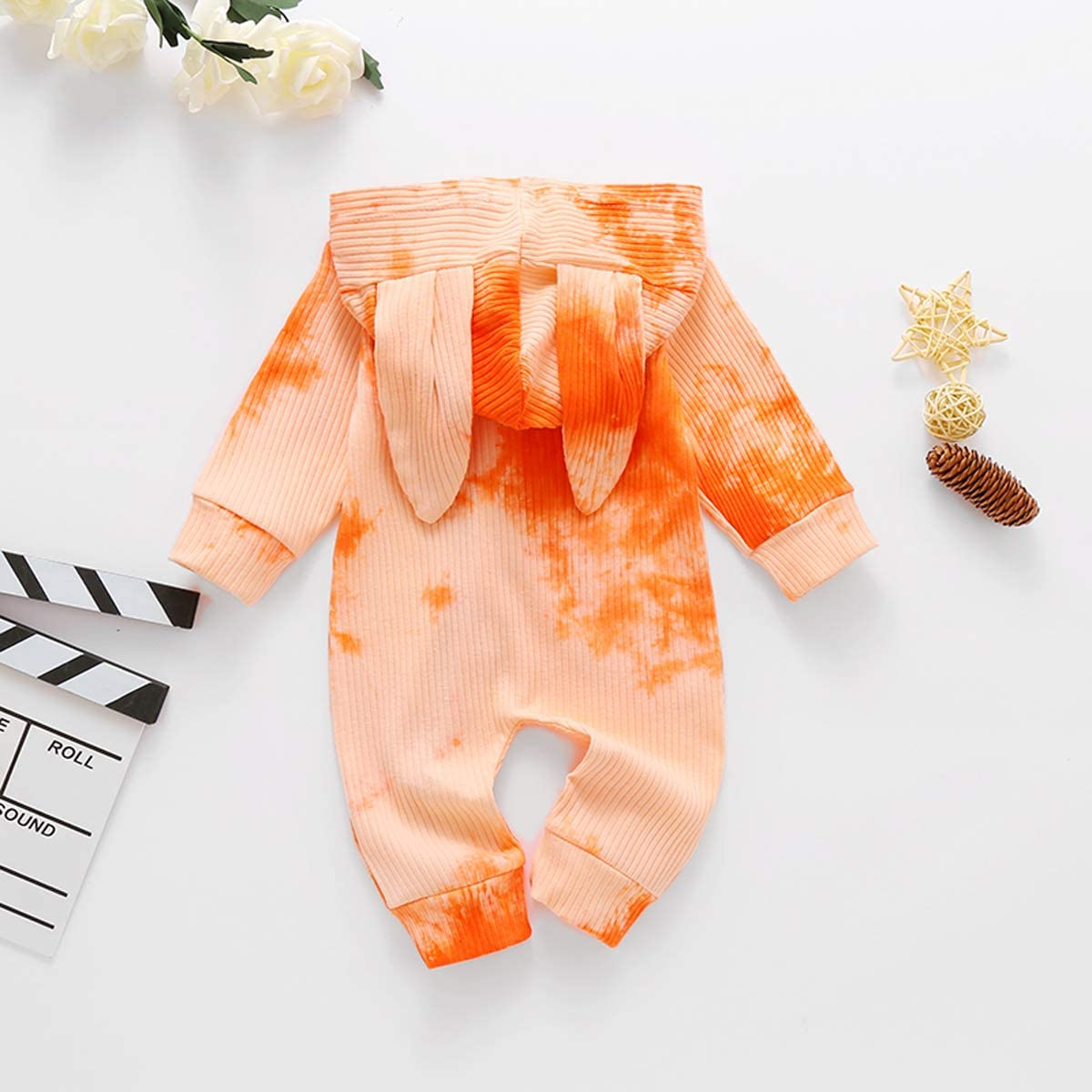Infant Baby Girl Boy Floral Bodysuit Long Sleeve Cotton Jumpsuit Hoodie Romper Fall Winter Onesie Clothes