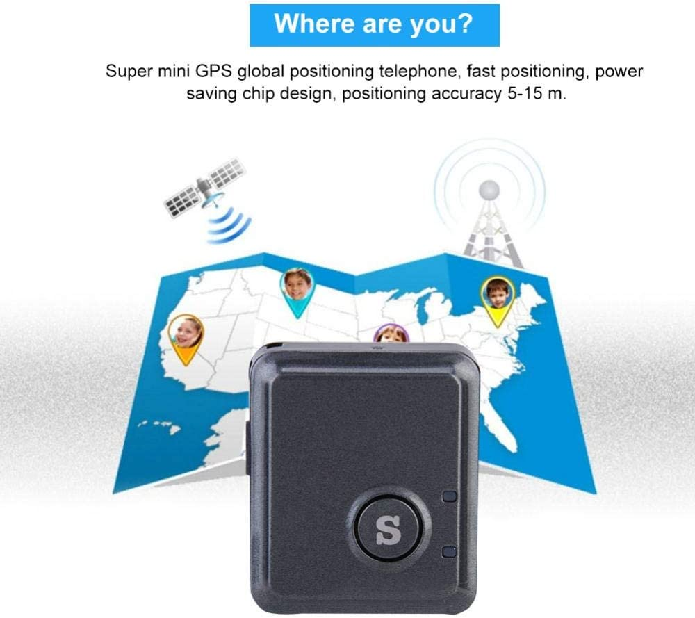 fosa GPS Tracker RF-V8S 4 Levels of Sensitivity Perfect Chip Mini Real Time Tracking Locator Device Anti-Theft Anti-Lost GPS Locator for Vehicles Car Purse Bag Wallet Bags Kids