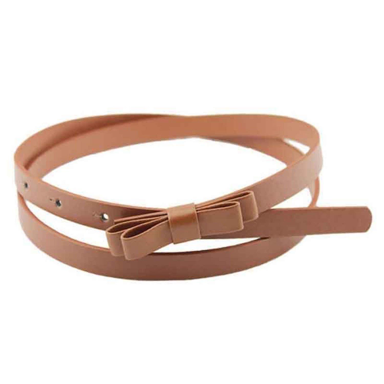 KEBINAI Thin Women Pu Leather Belt Cummerbund For Girl,105cm,Champagne
