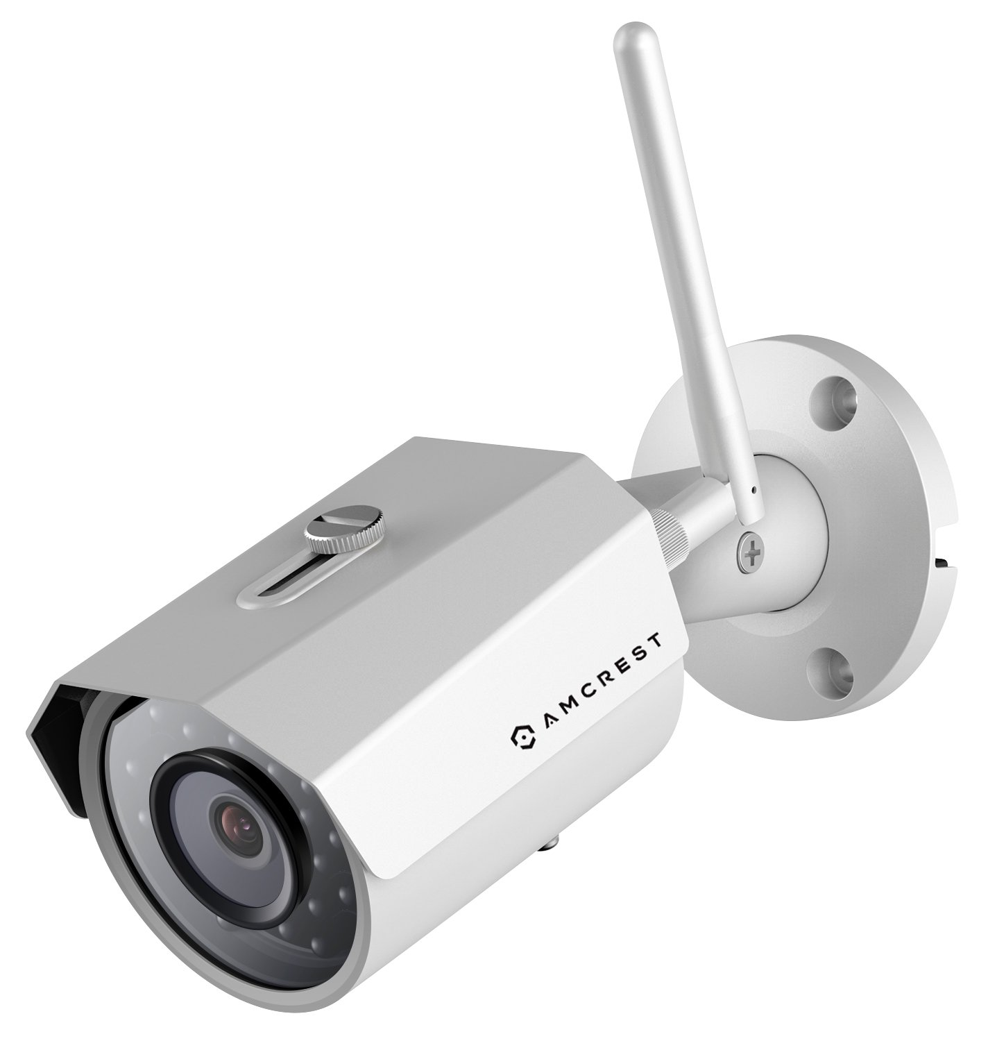 Amcrest 2K 3MP Wireless Outdoor Security Camera ProHD 1080P / 1296P (2304TVL) Bullet IP WiFi Outdoor Camera - Full HD 1080P @ 30fps and 1296P @ 20fps, IP67, 98ft Night Vision, IP3M-943W (White) by Amcrest