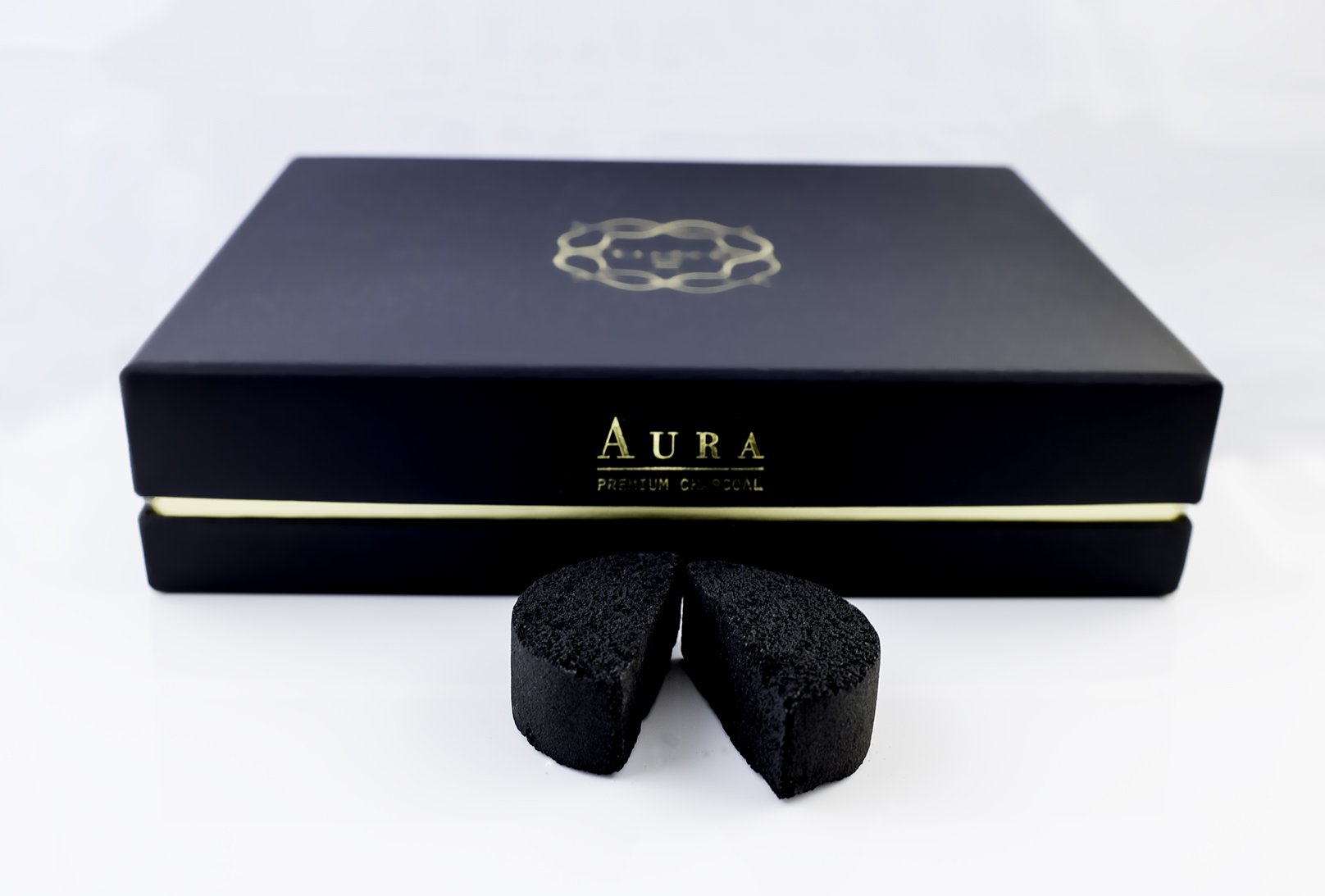 Kaloud Aura Premium Coconut Charcoal 48 Pieces For Clean And Smooth Hookah Sessions Fits Perfectly With Kaloud Lotus I+