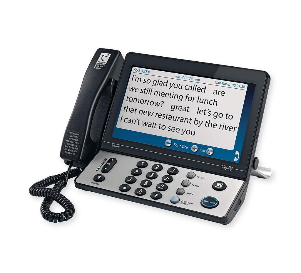 Hamilton CapTel 2400i Captioned Telephone Large Touch-Screen Captioned Telephone with 40dB Amplification by Hamilton CapTel