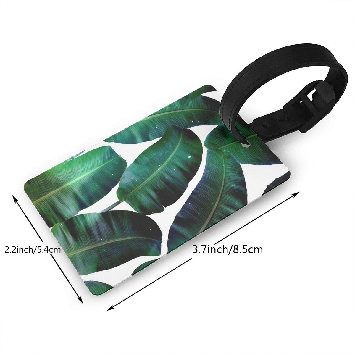 Cosmic Banana Leaves Luggage Tags Suitcase Labels Bag Travel Accessories Set of 2