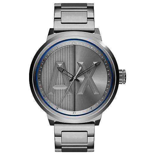 f43df2dc8073 Armani Exchange Reloj Analógico para Hombre de Cuarzo con Correa en Acero  Inoxidable AX1362  Amazon.es  Relojes