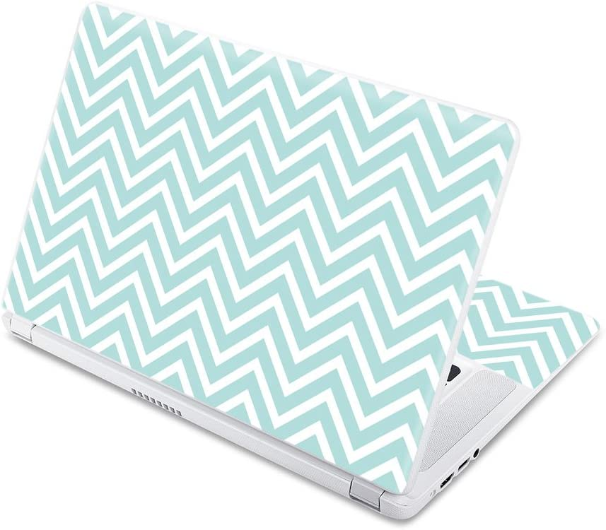 """MightySkins Skin Compatible with Acer Chromebook 15 15.6"""" (2017) - Aqua Chevron 
