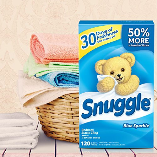 Free Shipping Snuggle Fabric Softener Dryer Sheets Blue