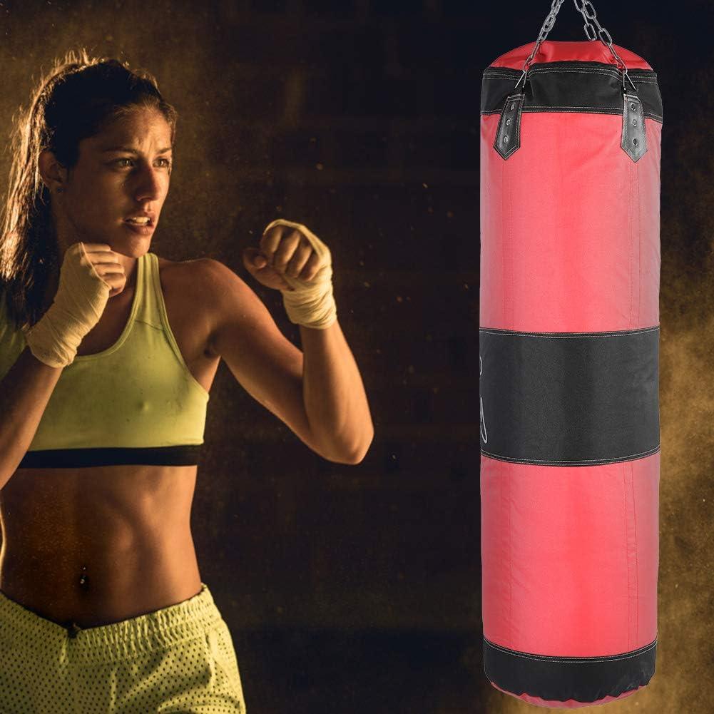 1m Fsskgxx Punch Sandbag Boxing Training Bag Empty Punching Sand Bag for Hook Kick Fight Karate Exercise