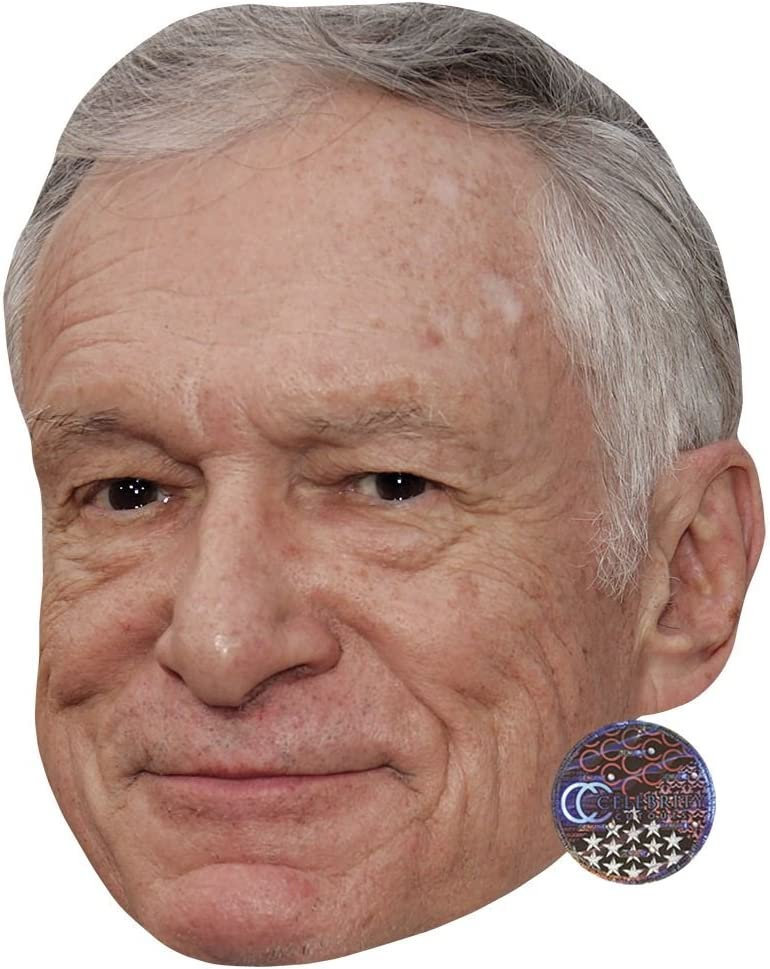 Card Face and Fancy Dress Mask Hugh Hefner Celebrity Mask