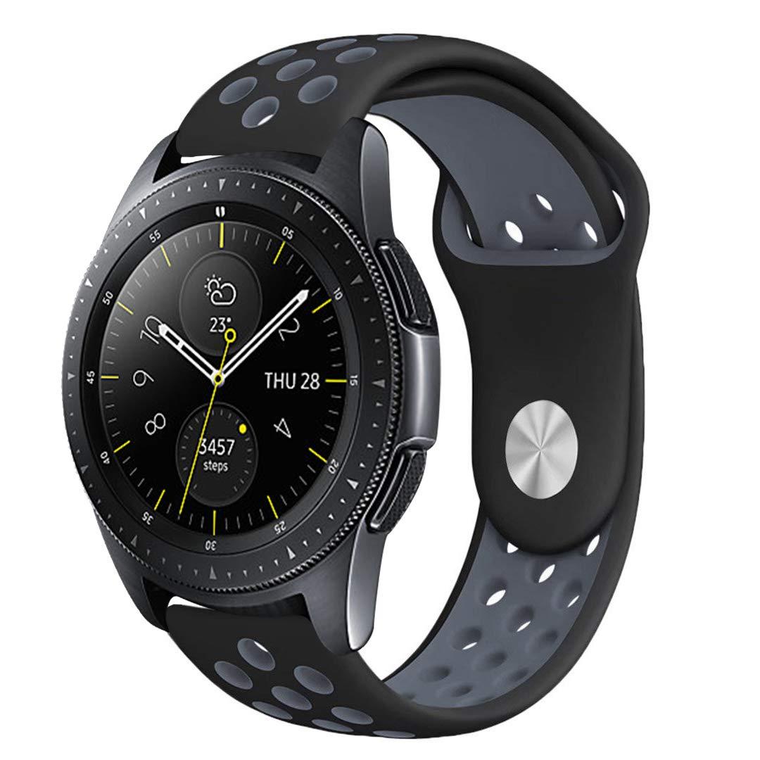 Leafboat Compatible con Correa Samsung Galaxy Watch 46mm, Correa de Silicona con Correa de Repuesto con pasadores de liberación rápida Mira Pulsera Samsung ...