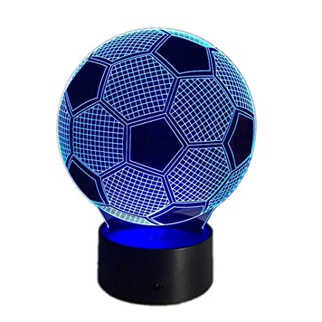 3d Night Led Lamp Optical Illusion Soccer Smart Touch Button Light 7