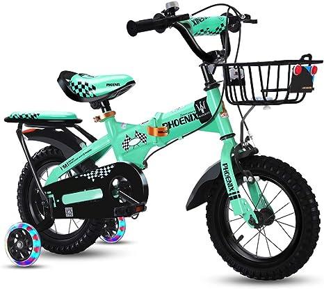 Niño y niña Bicicleta Plegable niño Bicicleta 3-6-7-8 años niña ...