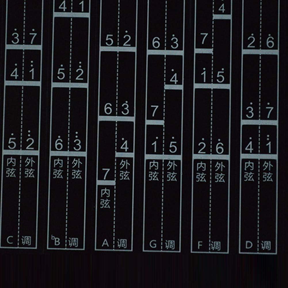 40cm xxiaoTHAWxe Chinese Violin Self-Adhesive Erh-hu Fretboard Tune Intonation Chart Erhu Sticker