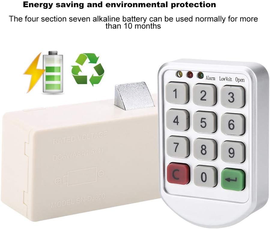 Code Clavier avec Voyant Lumineux LED pour Alarme//Basse Tension//Ouvert tiroir Sauna//Bureau Kafuty Serrure /électrique Verrouillage par Mot de Passe pour casiers