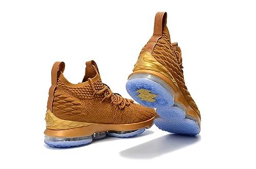on sale 26985 d702f 2018 Lebron XV Coco Brown Basketball Shoes,Lebron James 15 NBA Sneakers (8,