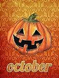 Caroline's Treasures SB3020GF October Pumpkin Halloween Flag, Small, Multicolor