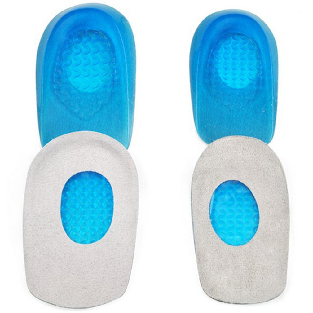 GUAngqi 1 Pair Foot Care Soft Silicone Gel Half Insole Shoe Pad Increase Heel Pain Relief Insert For Shoes Orthotic Insole,Large size