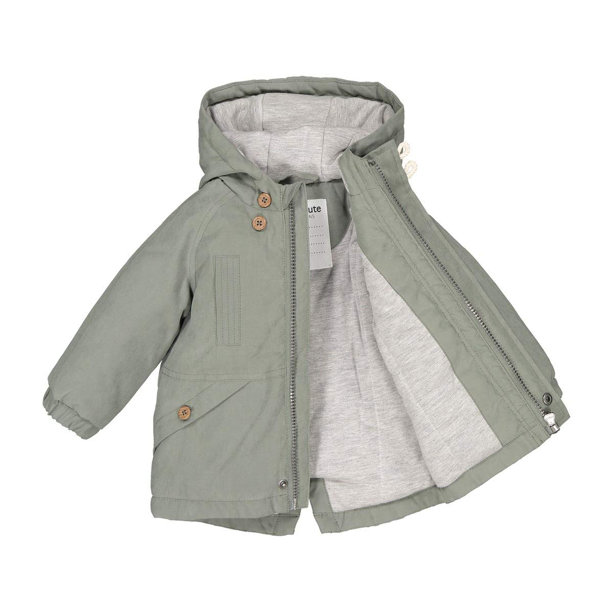 3 Months-3 Years La Redoute Collections Big Boys Hooded Parka with Slogan On Back