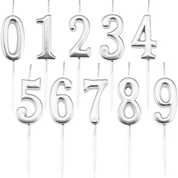 Amazon.com: Maitys - Velas de cumpleaños con números de 0 a ...