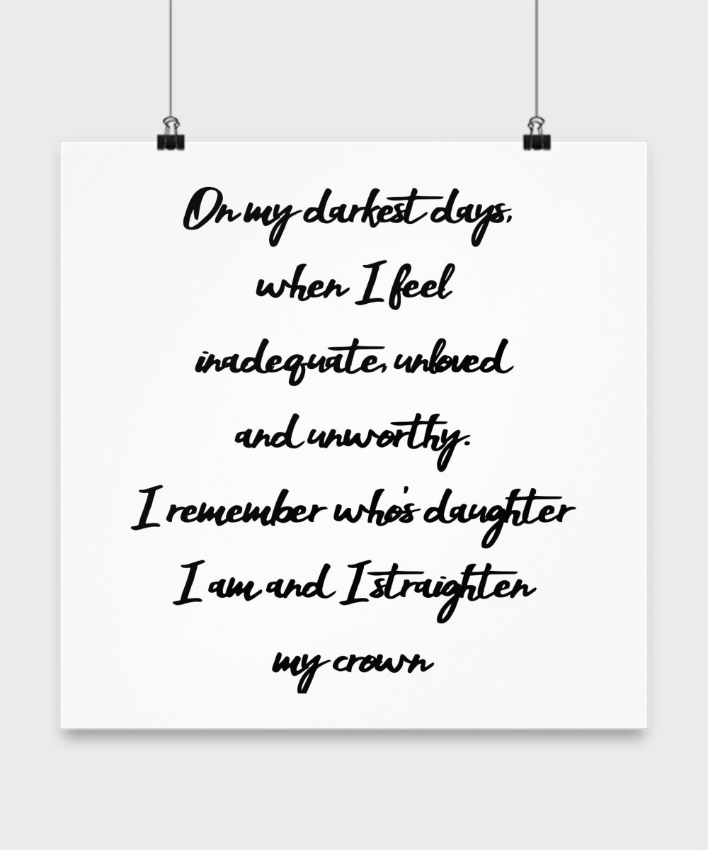 Mother's Day Gifts From Daughter, On my Darkest Days Phrase for Mom on her Special Day