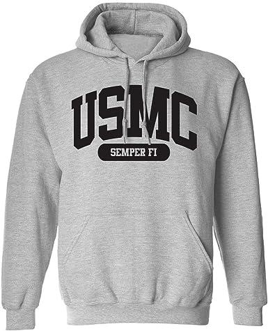USMC Athletic Marines Hooded Sweatshirt in Gray