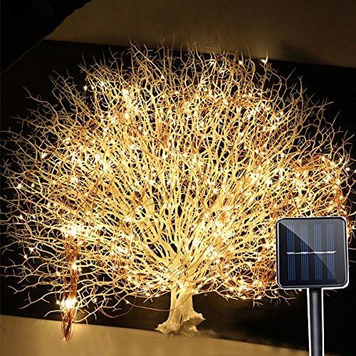 Valla Exterior 2Mx200LED Solar vides Rama LED Tira Hilo de Luz jardín al Aire Libre del árbol del LED Tira Hilo de Luz Branch: Amazon.es: Hogar