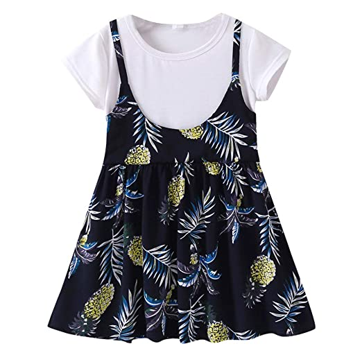 14226b30e8b Amazon.com: TiTCool Baby Clothes Mommy and Me Dresses Pineapple Print  Matching T Shirt Dress Mommy Daughter Outfits: Clothing