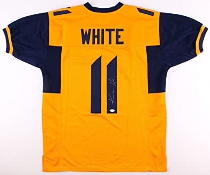 Image Unavailable. Image not available for. Color  Kevin White Autographed  Signed West Virginia Mountaineers Jersey ... 08c2068dd