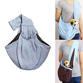 C Soft Pouch and Tote Design Portable Foldable and Washable Shoulder Kitten Puppy Small Dog Travel Bag Warm Puppy Sling Carrier MOGOI Dog Cat Carrier Sling