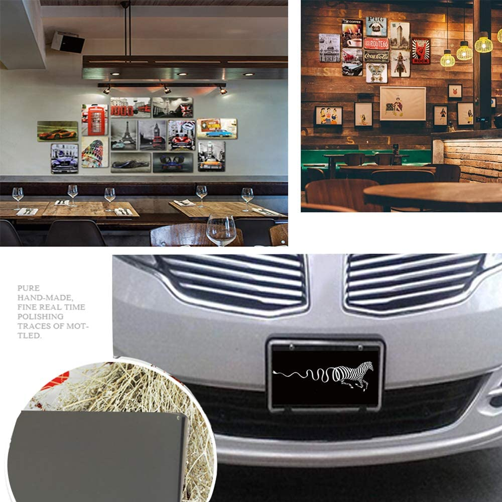 MaoDa Japanese Style Overlapping Umbrella Design Auto License Plate Car Tag Home//Cafe Bar//Pub//Restaurant//Exhibition Wall Decor Vintage Plaque 6x12