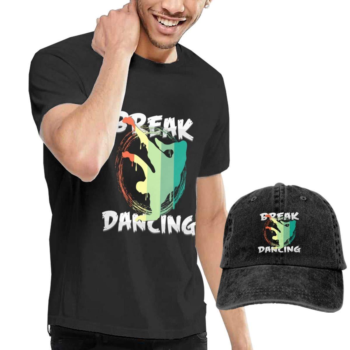 Break Dancing Tshirt Short Sleeve Denim Hat Male