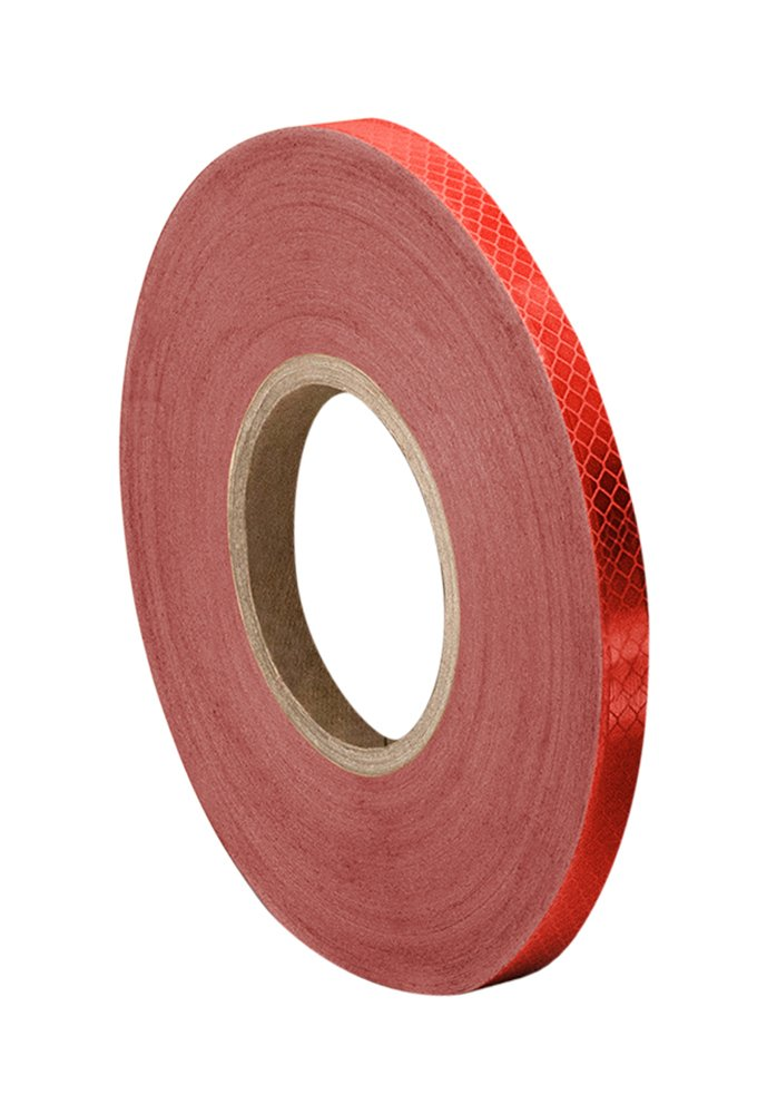 3M 3432 Red Micro Prismatic Sheeting Reflective Tape, 4.8mm X 46m (1 Roll) TapeCase 3M 3432 0.188 x 50yd