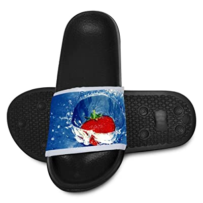 Strawberry Water Kids Soft Casual Slide Sandals Anti-Slip Slippers Shoes