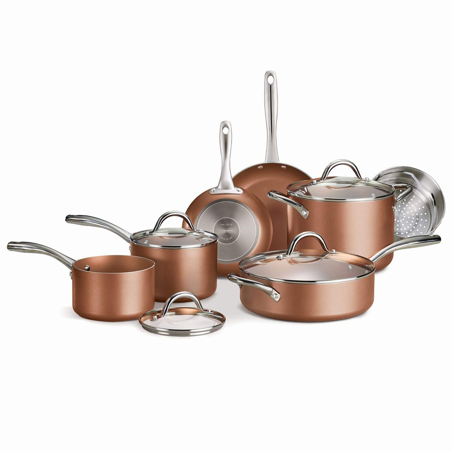 Tramontina 11-Piece Metallic Copper Nonstick Cookware Set